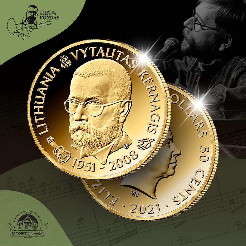 Auksinė moneta Vytautui Kernagiui atminti
