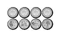 """12 monetų rinkinys """"Zodiako ženklai"""""""