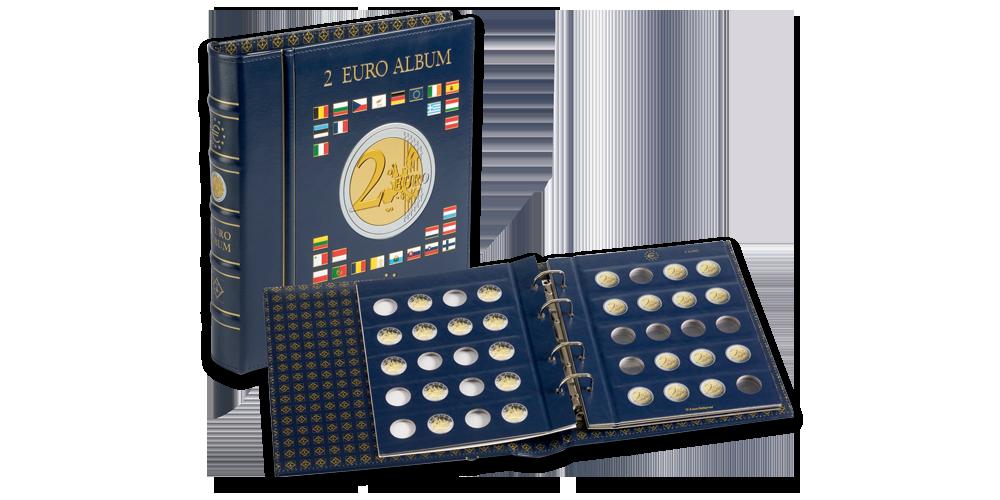 2 Euro monetų albumas