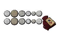 """Rinkinys """"6 sidabro monetos iš 6 žemynų"""""""