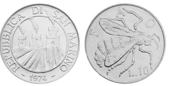 10 lirų iš San Marino.