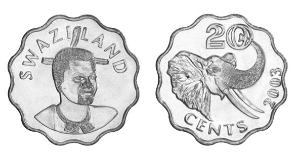 20 centų iš Svazilando