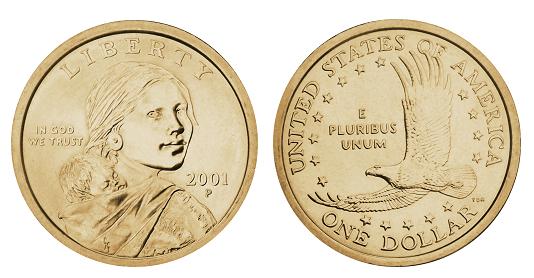 1 doleris iš JAV