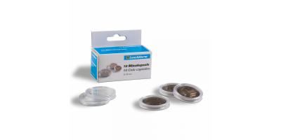 Apvalios kapsulės CAPS: monetoms iki 39 mm