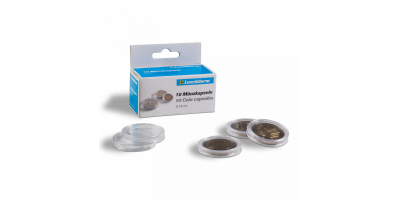Apvalios kapsulės CAPS: monetoms iki 40 mm