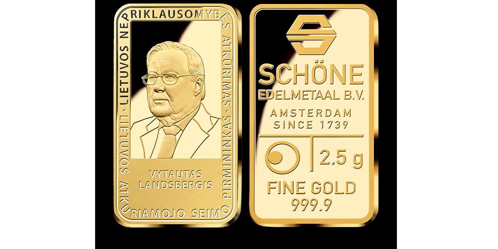 Auksinis luitelis, pagerbiantis Vytautą Landsbergį