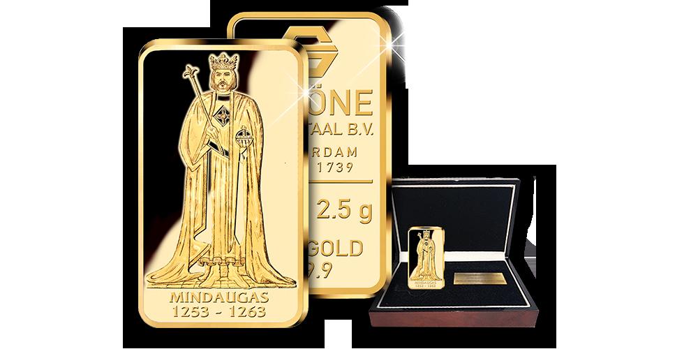 Gryno aukso luitelis, skirtas Lietuvos karaliui – Mindaugui