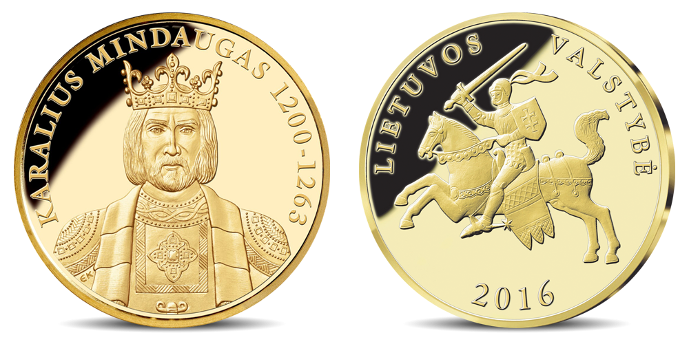 Aukso medalis karaliui Mindaugui