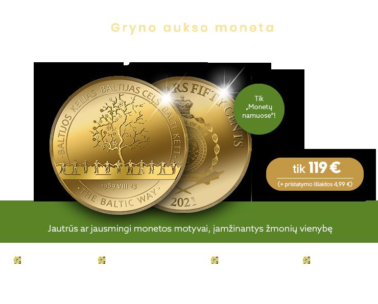 """Aukso moneta """"Baltijos kelias"""""""