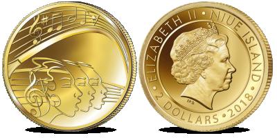 """Gryno aukso moneta  """"Dainų šventės"""""""