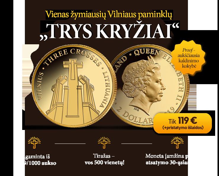 "Aukso moneta ""Trys Kryžiai"""