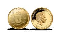 """Gryno aukso monetų kolekcija """"Etnografiniai regionai"""", pirmoji moneta """"Žemaitija"""""""