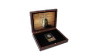 """Autentiška moneta """"Tamplierių likimas"""" dėžutėje"""