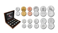 Autentiškų monetų rinkinys iš Šiaurės ir Pietų Korėjos