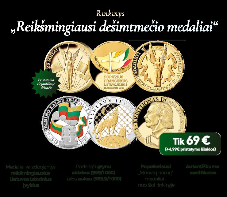 """Rinkinys """"Reikšmingiausi dešimtmečio medaliai"""""""
