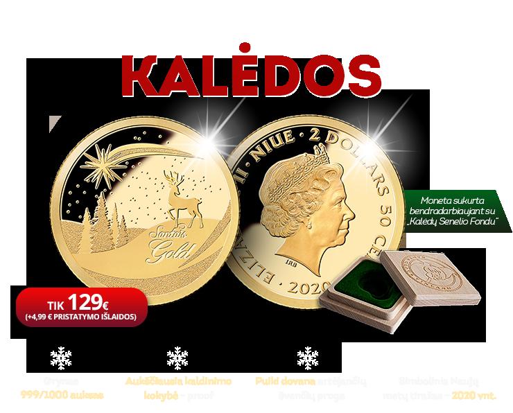 """Gryno aukso moneta """"Kalėdos"""""""