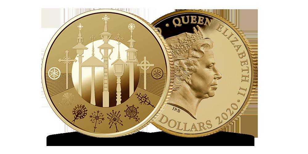 """Gryno aukso moneta """"Kryždirbystė"""""""