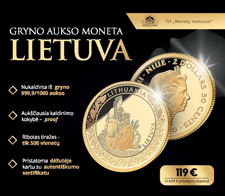 "Gryno aukso moneta ""Lietuva"""