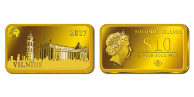 "Gryno aukso monetų kolekcija ""Gražioji Europa"", pirmoji moneta ""Vilnius"""