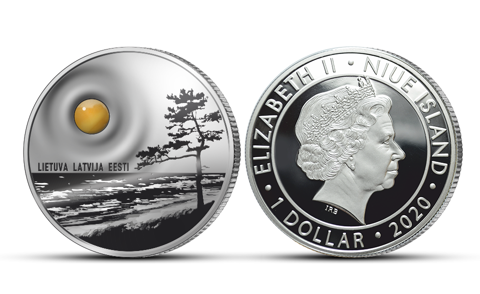 "Gryno sidabro moneta ""Baltijos gintaras"""