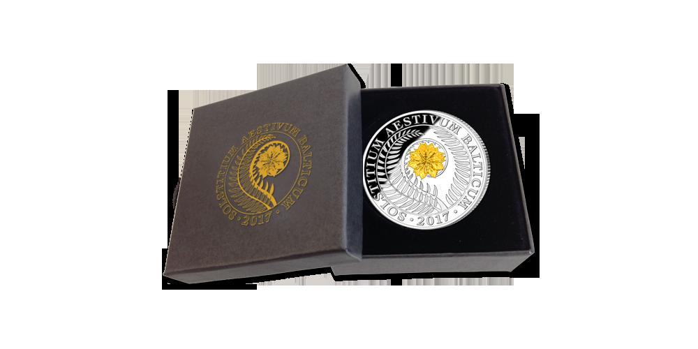 """Gryno sidabro moneta """"Joninės"""""""
