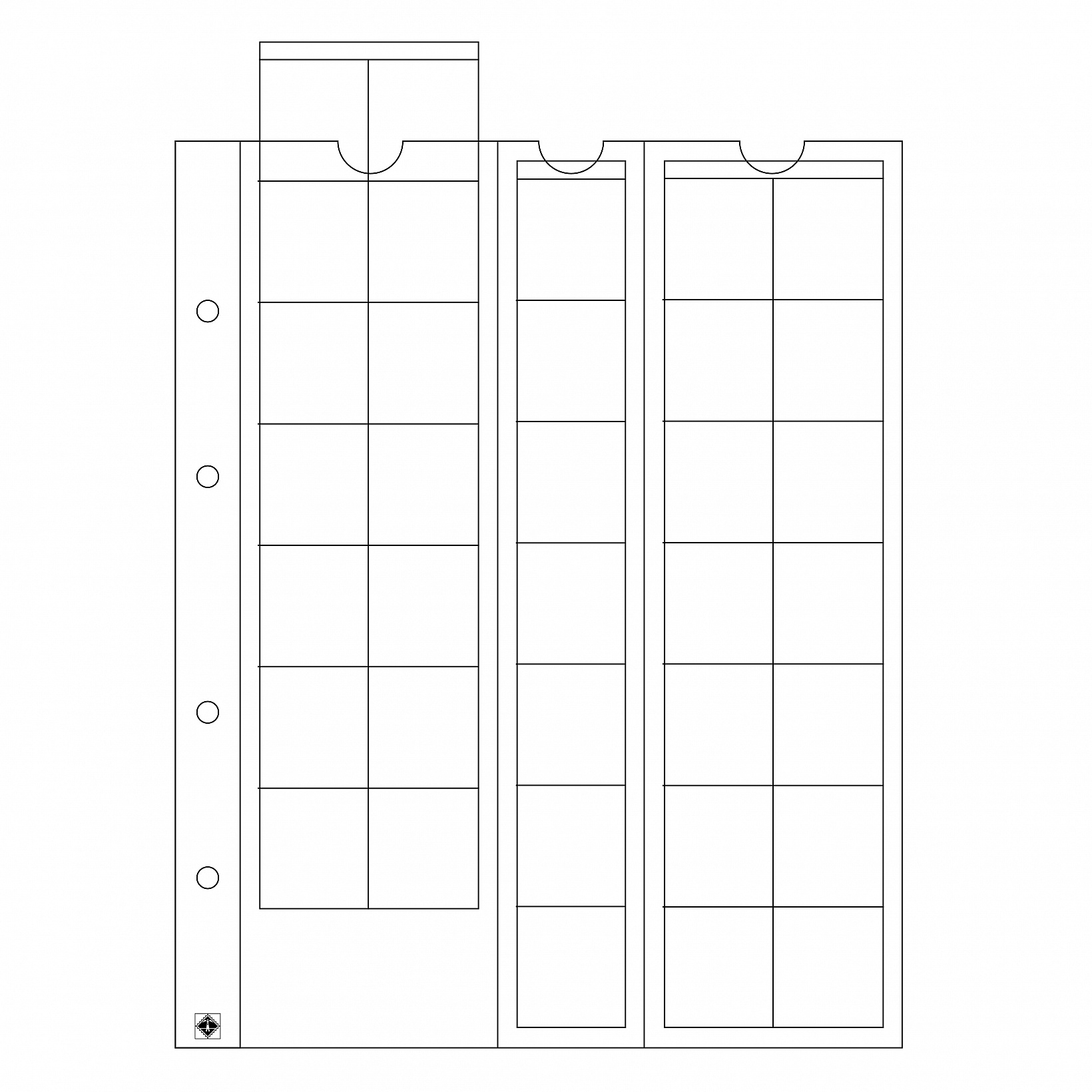 coin-sheets-optima-for-35-coins-up-to-27-mm-o-clear