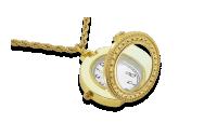 Išskirtinis kaklo papuošalas -  laikrodis su padidinamuoju stiklu