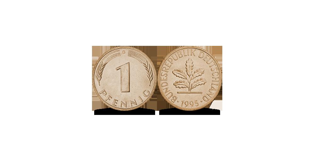 1 Vokietijos pfenigas (Pfennig)