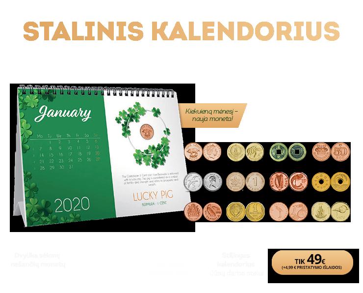 """Stalinis kalendorius """"Sėkmę nešančios monetos"""""""