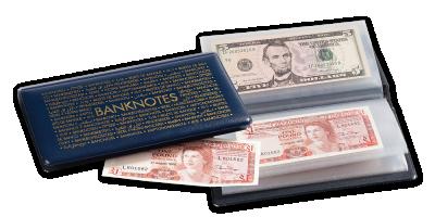 Kišeninis albumas banknotams iki 182 x 92 mm dydžio