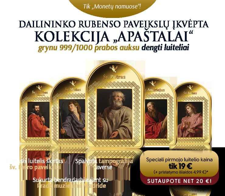 Šv. Petro portretas ant paauksuoto luitelio