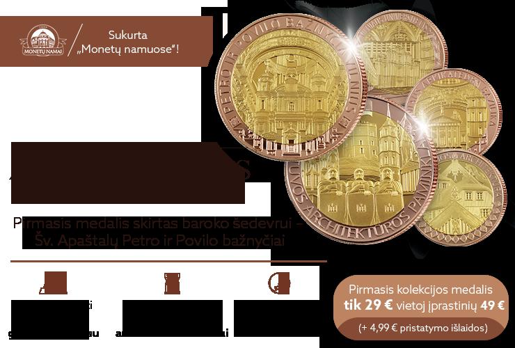 Naujiena Lietuvoje - geltonu ir raudonu auksu dengti medaliai