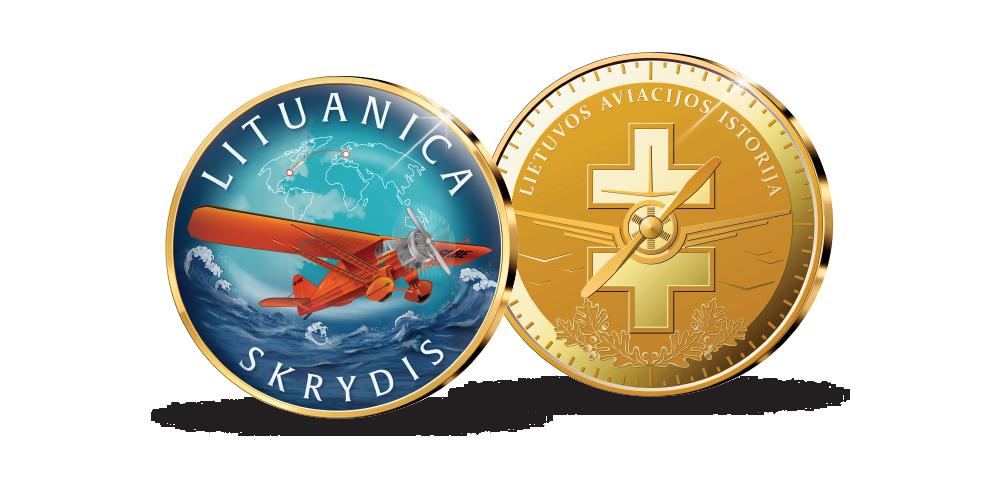 Kolekcija Lietuvos aviacijos istorija, pirmasis medalis Lituanica skrydis