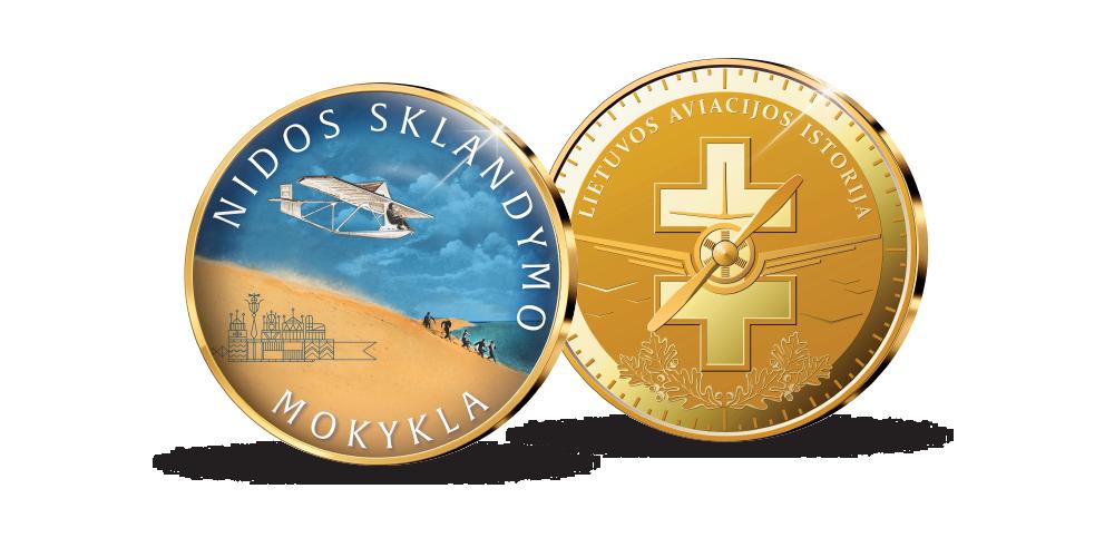 Kolekcija Lietuvos aviacijos istorija, medalis Nidos sklandymo mokykla