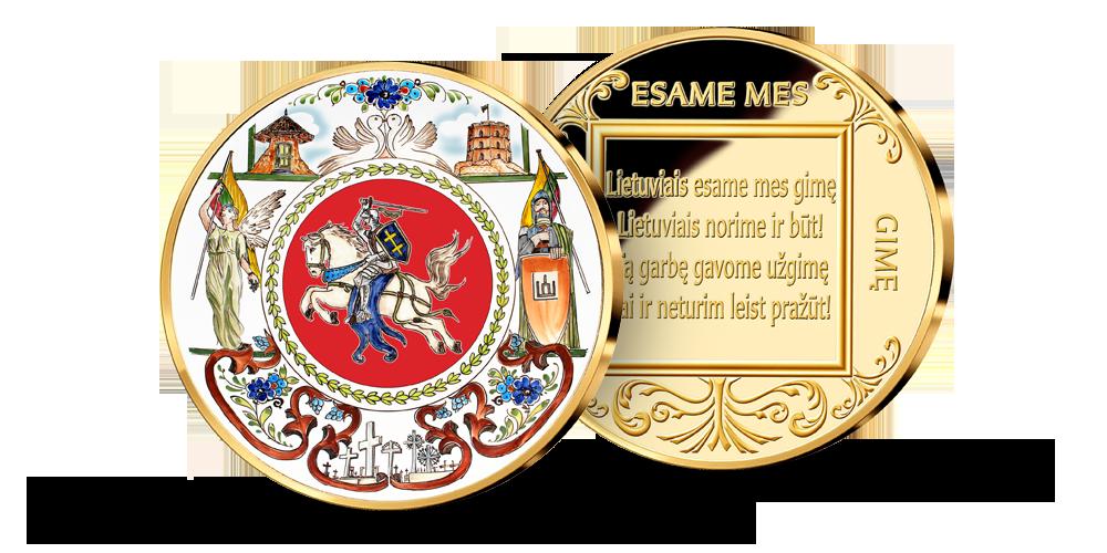 Kolekcija Lietuviais esame mes gimę, pirmasis medalis Vytis