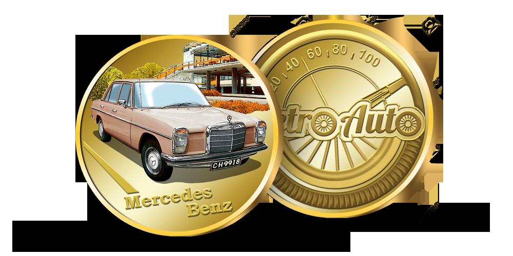 Kolekcija Retro Auto, medalis Mercedes Benz