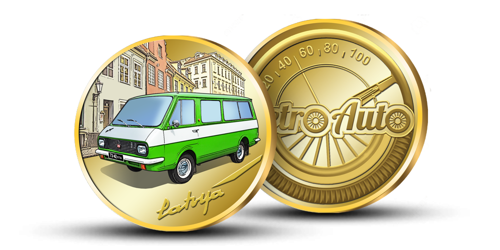 Kolekcija Retro Auto, medalis Latvija