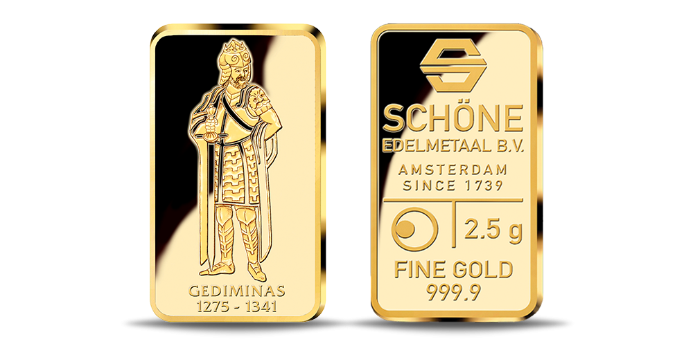 Aukso luitelis, skirtas Lietuvos didžiajam kunigaikščiui Gediminui