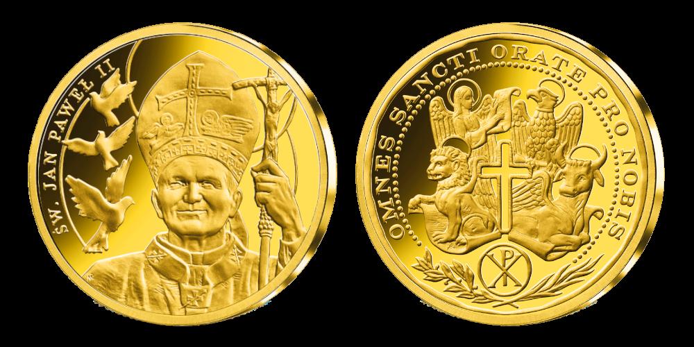 """edalių rinkinys """"Popiežiai Lietuvoje """" auksinis"""