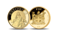 """Gryno aukso moneta """"Jėzaus skulptūra Šv. Petro bazilikoje"""""""