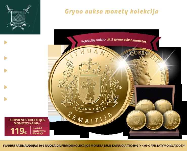"""Gryno aukso monetų kolekcija """"Etnografiniai regionai"""""""