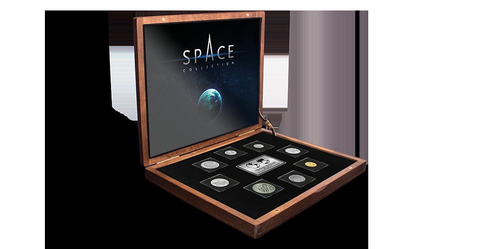 """Autentiškų monetų rinkinys """"Kosmoso užkariavimas""""2"""