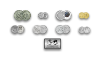 """Autentiškų monetų rinkinys """"Kosmoso užkariavimas"""""""