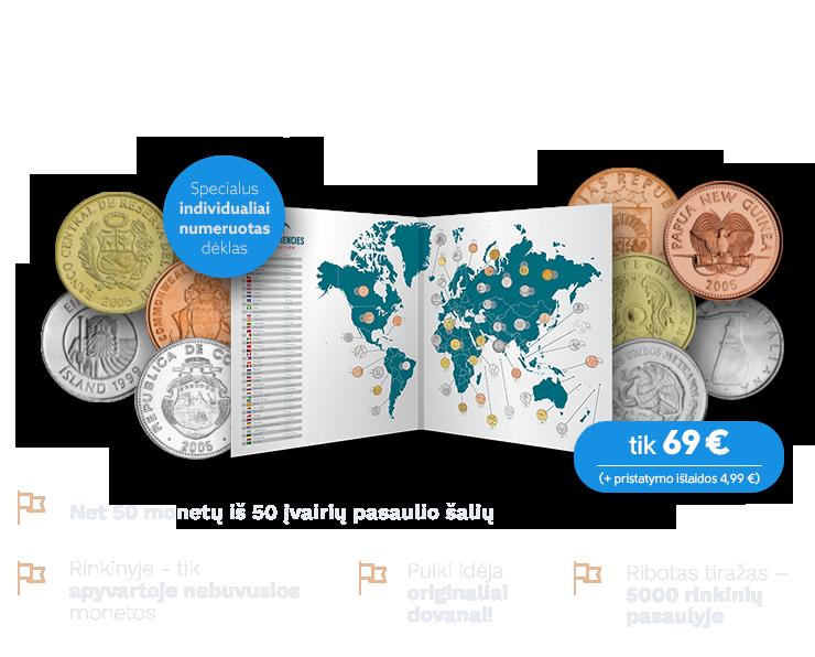 """Monetų rinkinys """"Pasaulio pinigai"""""""