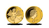 """Paauksuota moneta """"Tavo angelas sargas"""""""