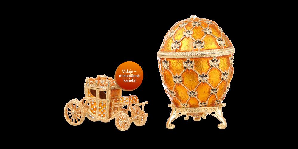 Faberžė kiaušinio įkvėpta papuošalų dėžutė