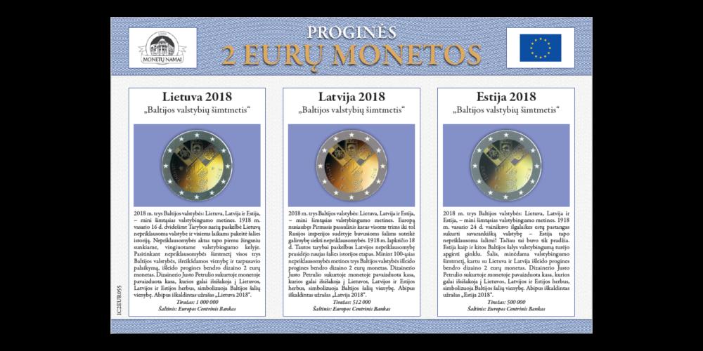 """Kolekcija """"Proginės 2 eurų monetos"""""""