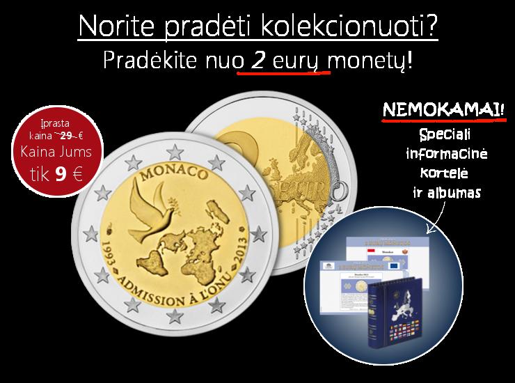 """""""Proginės 2 eurų monetos"""" – tai numizmatikos klasika"""