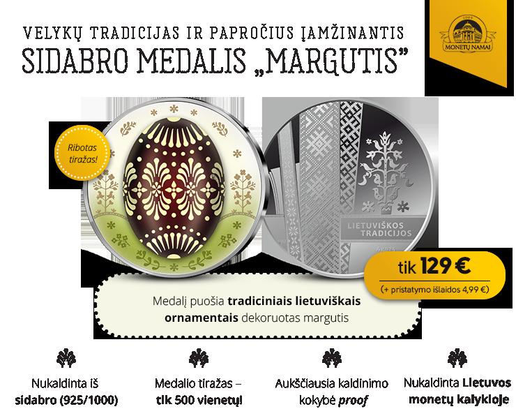 "Sidabrinis medalis ""Margutis"""
