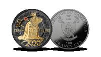 """Gryno sidabro moneta """"Žiurkės metai"""""""